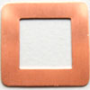 Kupari, muotopala, Neliö -keskeltä auki, 30x17mm, paksuus 0.5mm, emalointiin tai korun osaksi, 2 kpl