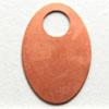 Kupari, muotopala, Soikea -iso aukko, 30x19mm, paksuus 0.5mm, emalointiin tai korun osaksi, 2 kpl
