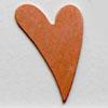 Kupari, muotopala, Hauska sydän, 25x16mm, paksuus 0.5mm, emalointiin tai korun osaksi, 3kpl