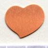 Kupari, muotopala, Sydän, 19x19mm, emalointiin tai korun osaksi, 3 kpl