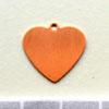 Kupari, muotopala, Sydän -silmukka, 16x16mm, paksuus 0.5mm, emalointiin tai korun osaksi, 3 kpl