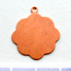 Kupari, muotopala, Medaljonki -silmukka, läpimitta 21mm, paksuus 0.5mm, emalointiin tai korun osaksi, 3kpl