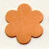 Kupari, muotopala, Kukka 6 lehteä, läpimitta 22mm, paksuus 0.5mm, emalointiin tai korun osaksi, 3kpl