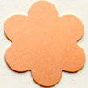 Kupari, muotopala, Kukka 6 lehteä, läpimitta 35mm, paksuus 0.5mm, emalointiin tai korun osaksi, 1 kpl
