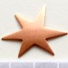 Kupari, muotopala, Hauska tähti, läpimitta 32mm, paksuus 0.5mm, emalointiin tai korun osaksi, 3 kpl