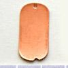 Kupari, muotopala, Nimilaatta -reikä lenkkiä varten, 25x13mm, paksuus 0.5mm, emalointiin tai korun osaksi, 3kpl