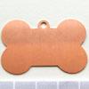 Kupari, muotopala, Koiranluu, 41x25mm, paksuus 0.5mm, emalointiin tai korun osaksi, 2kpl