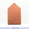 Kupari, muotopala, Nimilappu *matkalaukkulappu*, reikä lenkkiä varten, 21x13mm, emalointiin tai korun osaksi, 2kpl