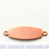Kupari, muotopala, Ovaali -kaksi lenkkiä -liitettävissä yhteen, 25x8mm, paksuus 0.5mm, emalointiin tai korun osaksi, 3 kpl