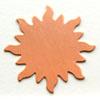 Kupari, muotopala, Aurinko, läpimitta 32mm, paksuus 0.5mm, emalointiin tai korun osaksi, 1 kpl