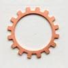 Kupari, muotopala, Ratas -avoin, läpimitta 19mm, paksuus 0.5mm, emalointiin tai korun osaksi, 3 kpl