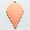 Kupari, muotopala, Lehti -silmukka, 27x18mm, paksuus 0.5mm, emalointiin tai korun osaksi, 3 kpl