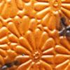 *Poistomyynti - tarjous* Kuparilevy, patinoitu, kuvioitu kukka (kohokuvio), KULTAINEN HEHKU -kuvio, noin 70x70mm, paksuus 0.15mm, pehmeä, uniikki kuvio