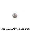 Kuutiollinen Zirkonia, valkoinen (kirkas), pyöreä, 5mm, 2 kpl