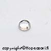 Kuutiollinen Zirkonia, valkoinen (kirkas), tasainen tausta (kapussi), pyöreä, 4mm, 2 kpl