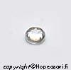 Kuutiollinen Zirkonia, valkoinen (kirkas), tasainen tausta (kapussi), pyöreä, 5mm, 1 kpl