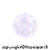 Kuutiollinen Zirkonia, Laventeli (Lavender), pyöreä, 5mm, 5 kpl