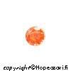 Kuutiollinen Zirkonia, Oranssi (tumma oranssi), pyöreä 3mm, 5 kpl