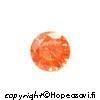 Kuutiollinen Zirkonia, Oranssi (tumma oranssi), pyöreä 4mm, 4kpl