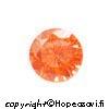 Kuutiollinen Zirkonia, Oranssi (tumma oranssi), pyöreä 5mm, 5 kpl