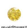 Kuutiollinen Zirkonia, Keltainen, pyöreä 5mm, 4 kpl