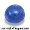 Spinelli, Sininen (Blue), Pyöreä, Tasainen tausta 4mm, 2kpl