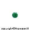 Synteettinen Emeraldi, Vihreä, Pyöreä 1.5mm, 5kpl, Poltto vain 650°C