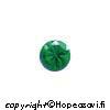 Synteettinen Emeraldi, Vihreä, Pyöreä 3mm, 10 kpl, poltto vain 650 C
