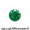 Synteettinen Emeraldi, Vihreä, Pyöreä 4mm, 5kpl
