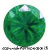 Synteettinen Emeraldi, Vihreä, Pyöreä 8mm, 1kpl