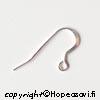 Korvakoukku, Sterling hopea 925, avonainen malli, silmukka, yksinkertainen malli, litistetty etuosa, 1 pari (2 kpl)