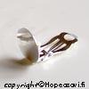 *Edullinen tukkupakkaus 20 kpl (10 paria)* Korvakoruklipsit, hopeoitu, 12mm tasainen alusta koristeosalle, OVH 9.50
