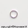 Välirengas, Hopea 925, pyöreä, 4.6mm (ulkomitta), lanka 0.8mm, 10 kpl