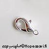 *Uusi alennettu hinta* Lukko, hopeoitu, papukaijamalli, 10X6mm, kestävä laatu, 4kpl