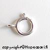 Lukko, Hopea 925, jousilukko, läpimitta 7mm, 2 kpl