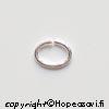 Välirengas, Hopea 925, soikea, 7X5mm, lanka 0.8mm, 5 kpl