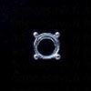Istukka, Pyöreälle kivelle, 5mm, hopea 980