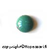 *Yksittäiskappale -huom väri* Turkoosi, tumman vihreä,pyöröhiottu kapussi, v/t, ympyrä, 10mm, 1 kpl