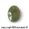 Jade, kapussi, pyöröhiottu, soikea, 14x10mm, 1kpl
