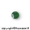 *Yksittäiskappale -huom. kiven läpi tumma kideraita* Jade, kapussi, pyöröhiottu, pyöreä, 6mm, 1kpl