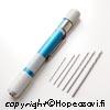 Pora, sormipora jonka sisällä tila poranterille, sisältään 6kpl poranteriä 0.4-1.5mm
