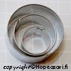 Muotti ympyrä, 3kpl setti (2cm,3cm,4cm), 'Food Safe' -merkki