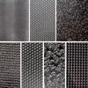 """Pintakuviointiin: Tekstuurilevyjä setti """"Artistinen E"""", 7 kpl, muovia, noin 10x6.5cm"""