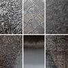 """Pintakuviointiin: Tekstuurilevyjä setti """"Artistinen F"""", 6 kpl, muovia, noin 12x11cm"""