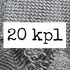 """Pintakuviointiin: Tekstuurilevyjä setti """"Mix"""", 20 kpl, muovia (eri kokoja ja malleja/ kuva vain esimerkki)"""