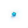 *Mallikappale-poistoale* Kuutiollinen Zirkonia, kuvassa #148, Topaasi (Sininen), KUKKA, 4x4mm, 1 kpl, huom ei kestä polttoa