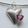 S-työohje, 'Kaksi sydäntä', hopea- ja zirkonia- riipus
