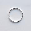 Välirengas, hopeoitua messinkiä, pyöreä, 10.0mm (ulkomitta), lanka 1.0mm, noin 50kpl