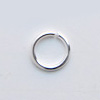 Välirengas, hopeoitua messinkiä, pyöreä, läpimitta 8mm, lanka 1.0mm, noin 100kpl