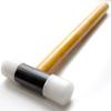 Vasara, iskuvasara, kestävää nailonia, iskupää 25mm, varsi jalopuuta